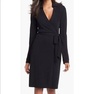 DVF Black Wrap Dress 2